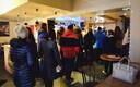 The line for lenten buns at Tartu's Werner Café on Shrove Tuesday. Feb. 13, 2018.