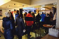 The line for lenten buns at Tartu's Werner Café on Shrove Tuesday. Feb. 13, 2018.