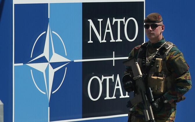 Belgia sõdur NATO peakorteri juures Brüsselis.