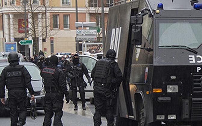 Pariisi politsei eriüksuslased, arhiivifoto.