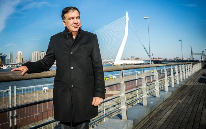 Saakašvili 14. veebruaril Rotterdamis.