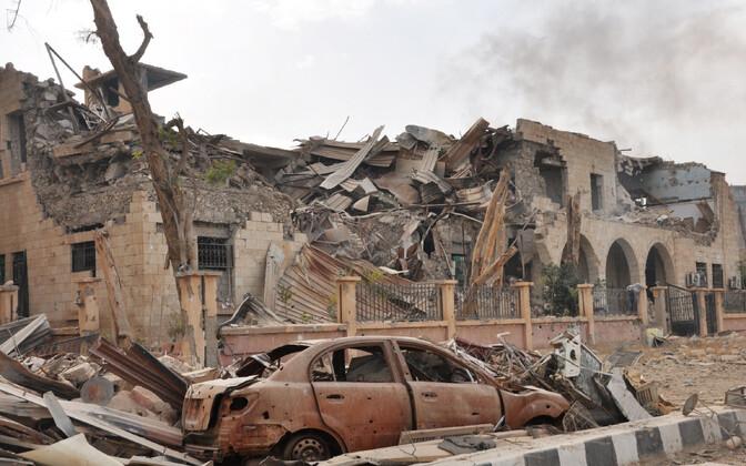 Lahingutes purustatud Der Ezzori linn. Süüria kodusõja ühe põhjusena nähakse kliimamuutuste tõttu vallandunud näljahäda.