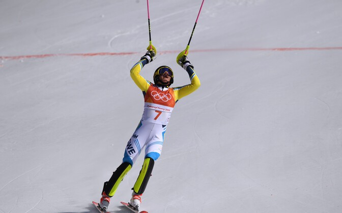 Шведка Фрида Хансдоттер стала олимпийской чемпионкой вслаломе