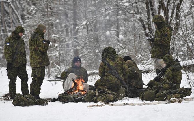 Учения куперьяновского батальона.