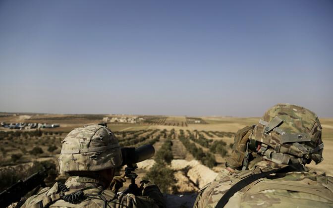 USA sõjaväelased Süürias Manbij lähistel.