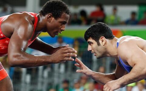 Ameeriklane Michael Tbory Cox (vasakul) ja iraanlane Alireza Mohammad Karimi Rio OM-il