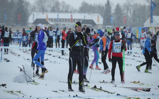Participants in the 45. Tartu Marathon, February 2018.