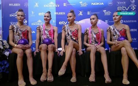 Сборная Эстонии заняла второе место в групповых упражнениях.