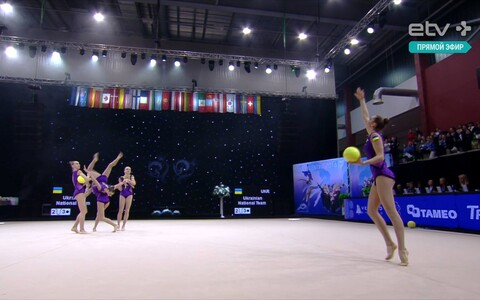 Гимнастки из Украины.