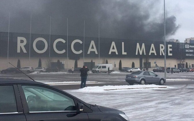 Пожар в  Rocca al Mare.