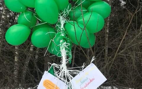 Leedust lennutatud õhupallid maandusid Võrumaal