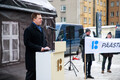Opening ceremony of the Republic of Estonia's centennial week in Tallinn. Feb. 19, 2018.