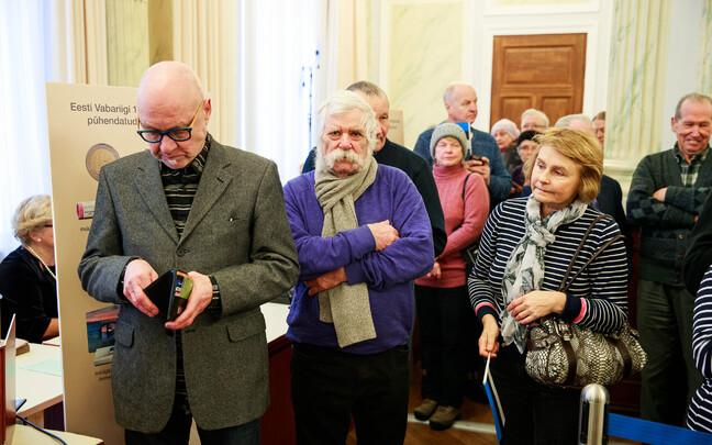 Презентация юбилейной монеты в Банке Эстонии.