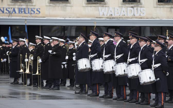 Kaitseväe orkester 2016. aastal vabariigi aastapäeva paraadil.