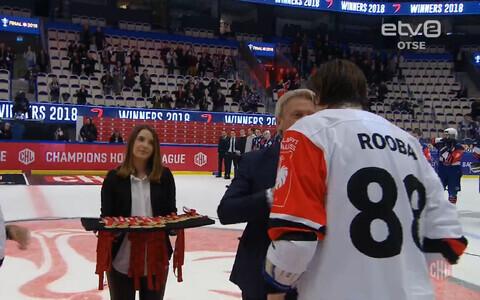 Роберт Рооба (№88) вошел в историю эстонского хоккея.