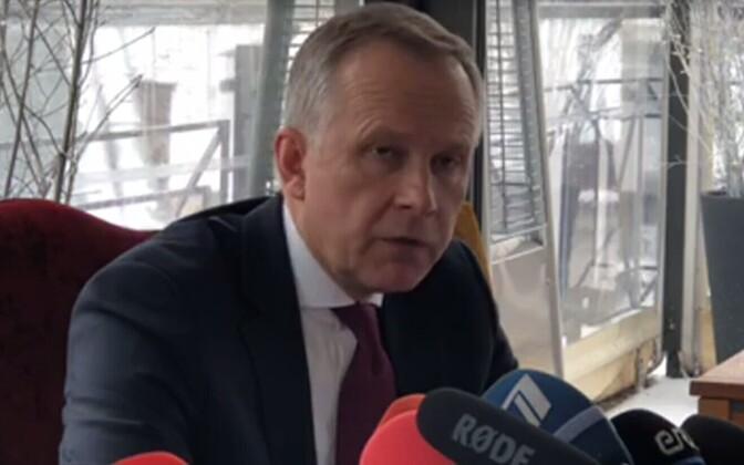 Ilmārs Rimšēvičs 20. veebruaril pressikonverentsil.