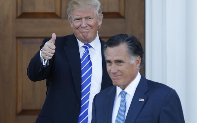 Trump ja Romney 2016. aasta novembris pärast kohtumist.