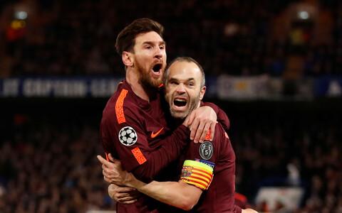 Lionel Messi ja Andres Iniesta
