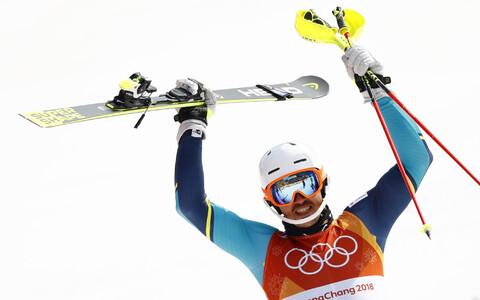 Шведский горнолыжник Андре Мюрер выиграл золото Олимпиады в слаломе.