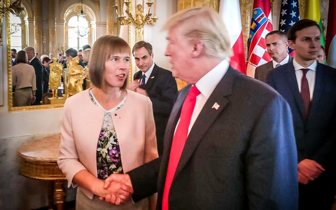 Kaljulaid and Trump last met in Warsaw last summer. July 2017.