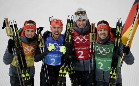 Eric Frenzel, Johannes Rydzek, Vinzenz Geiger, Fabian Riessle