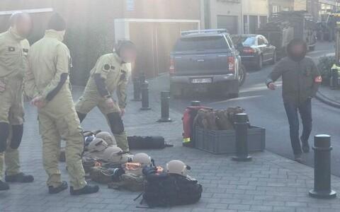 Спецподразделения полиции в Брюсселе 22 февраля.