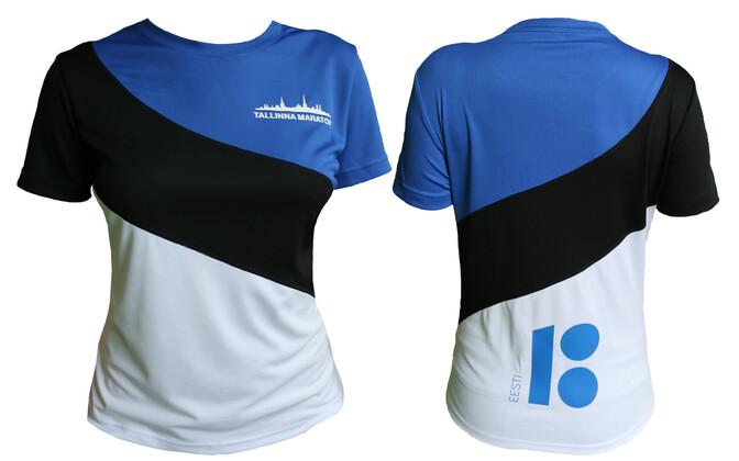 Tallinna Maratoni sinimustvalge särk