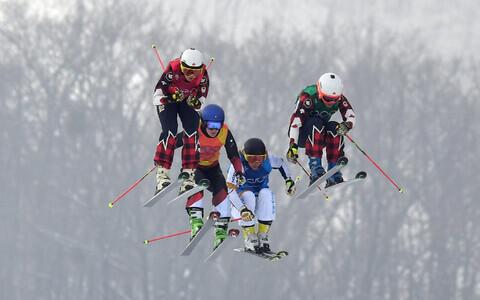Kelsey Serwa, Fanny Smith, Sandra Näslund, Brittany Phelan