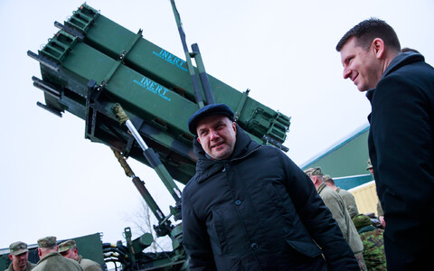 The Patriot missile system was introduced to journalists in Tallinn on Friday.