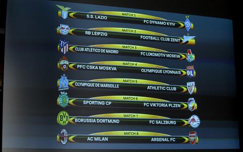 Результаты жеребьевки Лиги Европы.