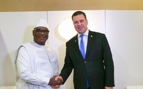 Ratas and President Ibrahim Boubacar Keïta of Mali, Feb. 23, 2018.
