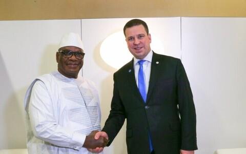 Ratas and President Ibrahim Boubacar Keïta of Mali, Feb. 23, 2018.