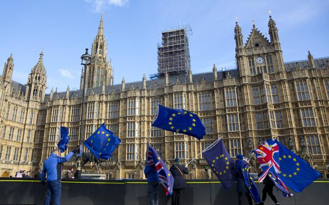 Brexiti vastu protestijad Londonis.