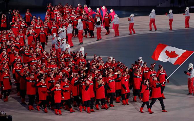 Kanada olümpiakoondis PyeongChangi OM-i avatseremoonial