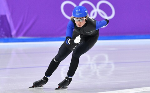 Estonian speedskater Saskia Alusalu.