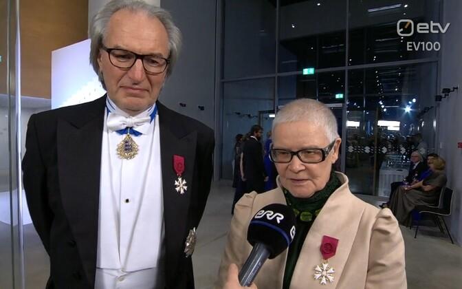 Dirigent Tõnu Kaljuste ja lavastaja Merle Karusoo