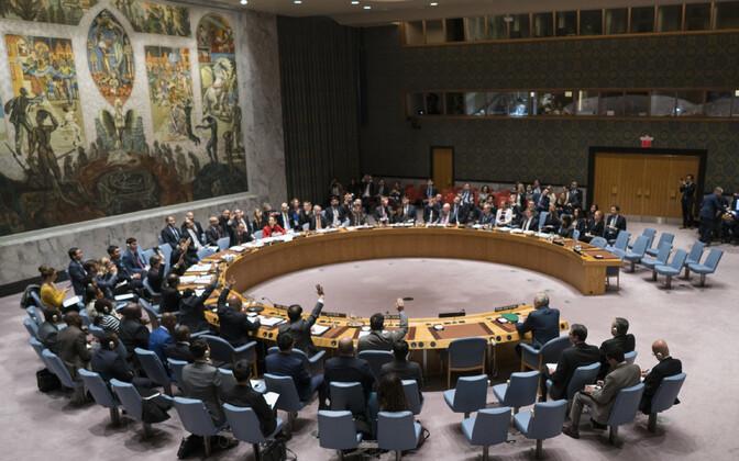 ÜRO julgeolekunõukogu istung.