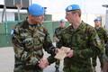 Estonian peacekeepers of the ESTPLA-24 platoon in Lebanon celebrate the Estonian centennial.