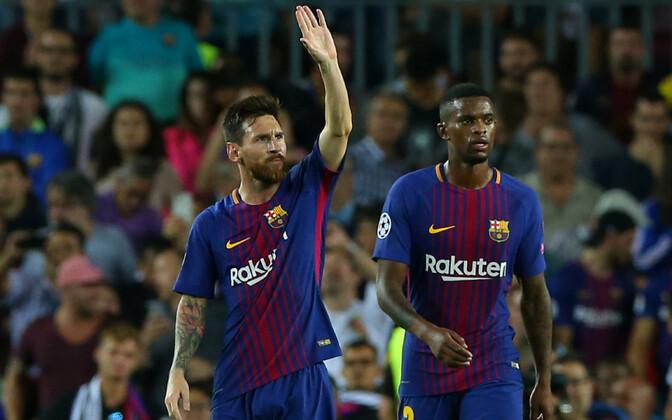 Lionel Messi ja Nelson Semedo.