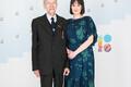 Eesti vabadusvõitlejate juhatuse liige Herbert Kaasikmäe ja tütretütar Annika Hunt.