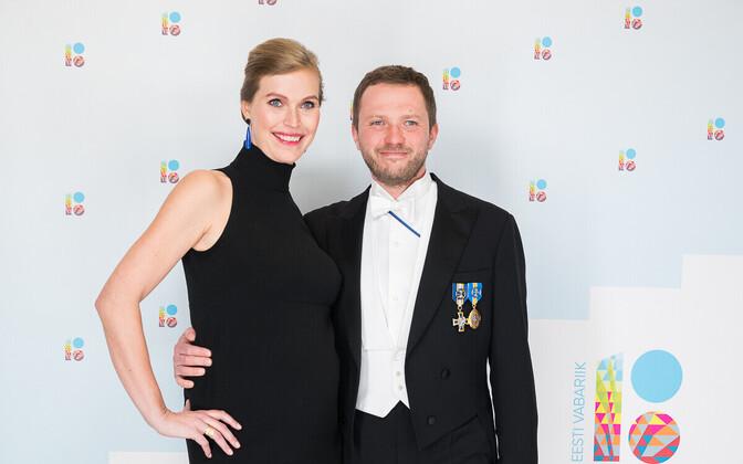 Riigikogu liige Margus Tsahkna ja abikaasa Anna-Greta.