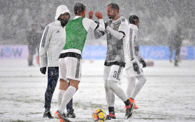 Torino Juventus lumisel väljakul