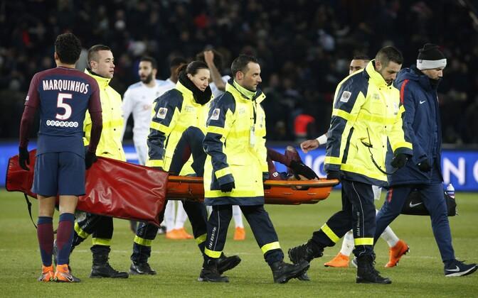 Neymar nihestas PSG võidumängus Marseille'i üle hüppeliigest