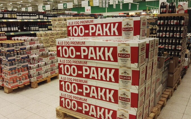 Alcohol for sale at a supermarket in Estonia (picture is illustrative).