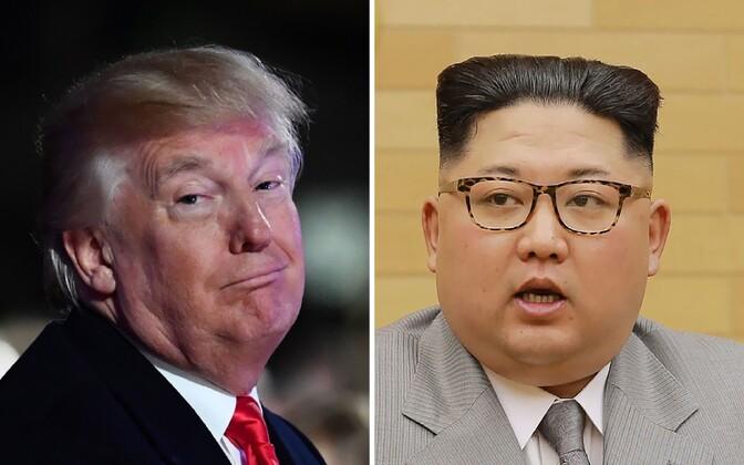 USA president Donald Trump ja Põhja-Korea liider Kim Jong-un.