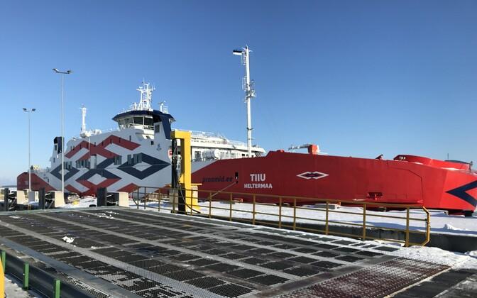 The Tiiu at the Port of Rohuküla on Tuesday morning. Feb. 27, 2018.