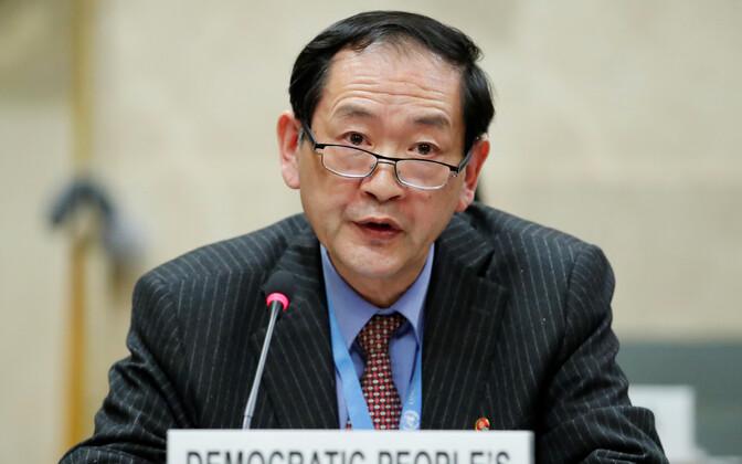 Põhja-Korea suursaadik ÜRO desarmeerimiskonverentsil HanTae-song.