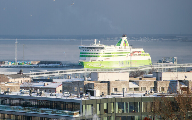 A Tallink ferry in port. Feb. 28, 2018.