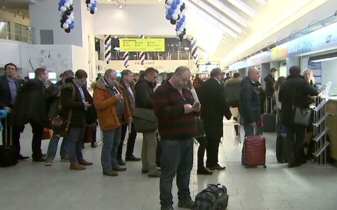 The incident caused cancellations and delays at Tallinn Airport.