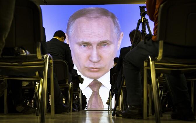 Vladimir Putini kõne ülekanne ajakirjanikele